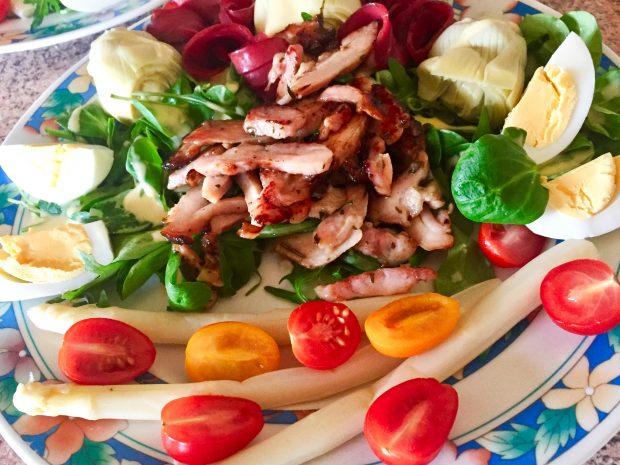 IMG 3370 620x465 - Salade Volaille & légumes