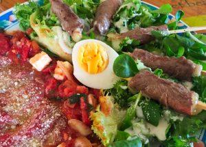 IMG 4087 300x215 - Yakitori boeuf fromage, salade tomate oeuf et carpaccio