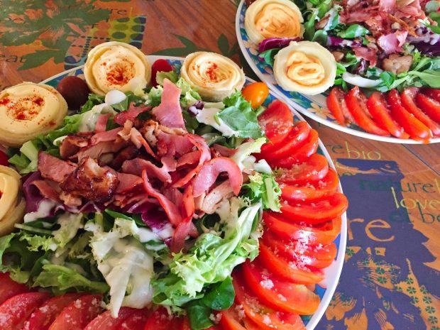 IMG 4097 620x465 - Salade poulet, bacon, tomate et artichaut