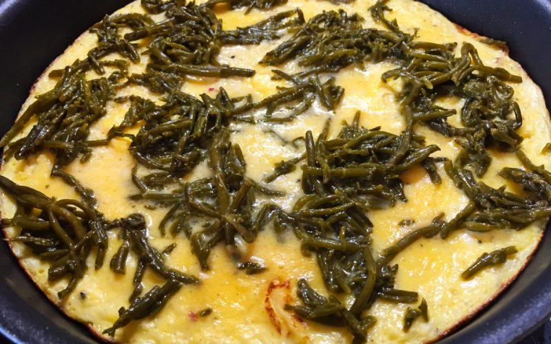 Omelette à la salicorne