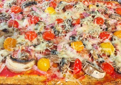 IMG 3570 400x280 - Pizza et sa pâte au chou-fleur (sans farine)