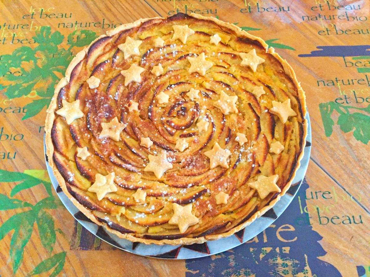 IMG 4275 - Tarte aux pommes étoilée