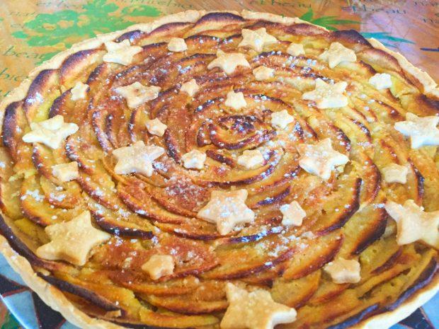 IMG 4277 620x465 - Tarte aux pommes étoilée