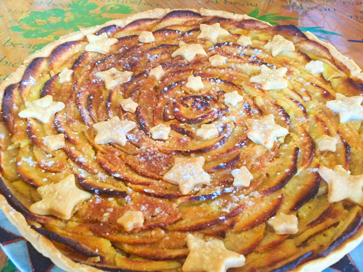 IMG 4277 - Tarte aux pommes étoilée