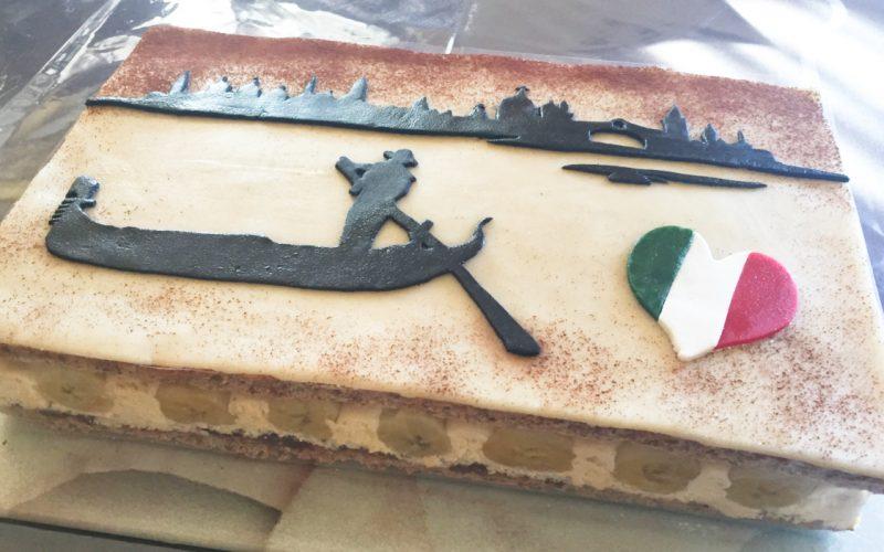 Gondolier – Gâteau banane, noisette confiture de lait