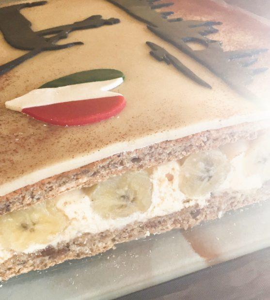 IMG 4927 557x620 - Gondolier - Gâteau banane, noisette confiture de lait