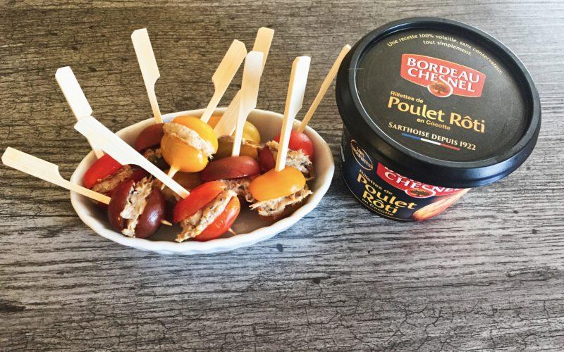 Tomates cerises farcies aux rillettes