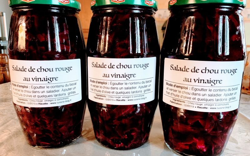 Salade de chou rouge au vinaigre