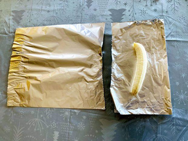 IMG 6046 620x465 - Papillottes crumble de bananes au four