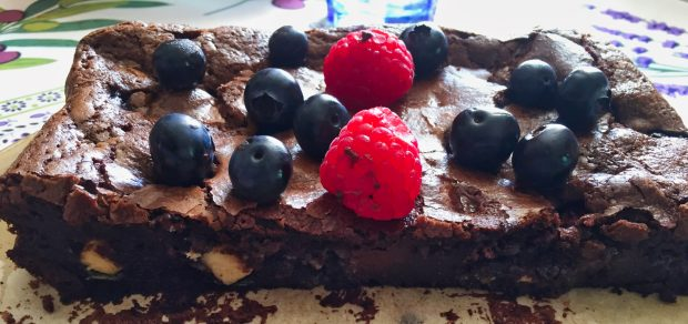 IMG 7456 620x292 - Fondant aux 2 chocolats et fruits rouges