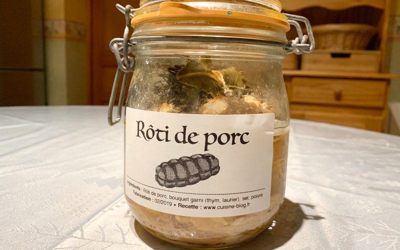 Rôti de porc en bocaux