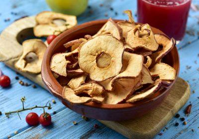 pommes seches 400x280 - Pommes séchées au déshydrateur