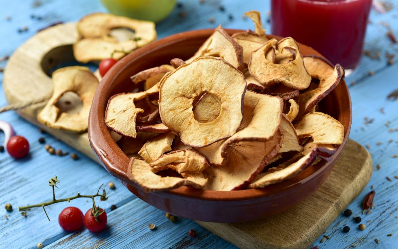 Pommes séchées au déshydrateur